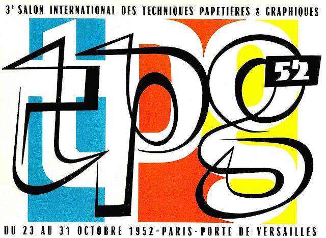 1952 Salon International des Techniques Papetieres & Graphiques in versailles