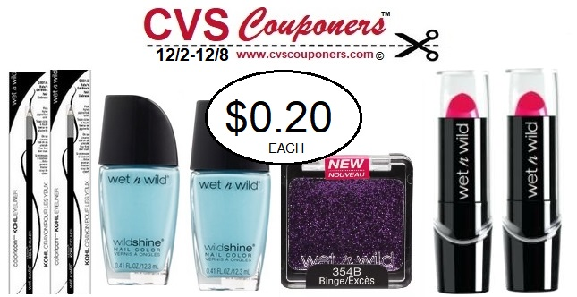 http://www.cvscouponers.com/2018/12/Wet-N-Wild-Cosmetics-CVS-Deal.html