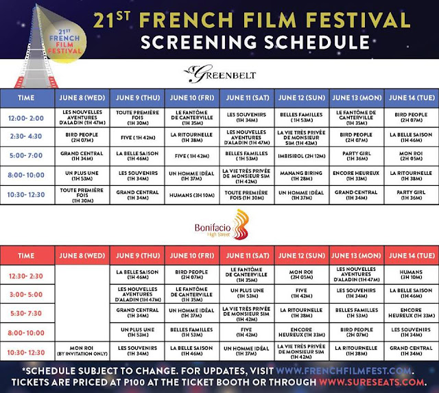 Check The Movie Schedule Of The 21st French Film Festival 2016