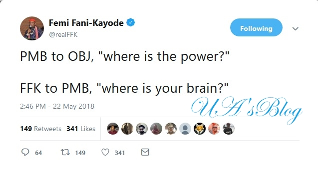 Where Is Your Brain – Fani Kayode To PMB