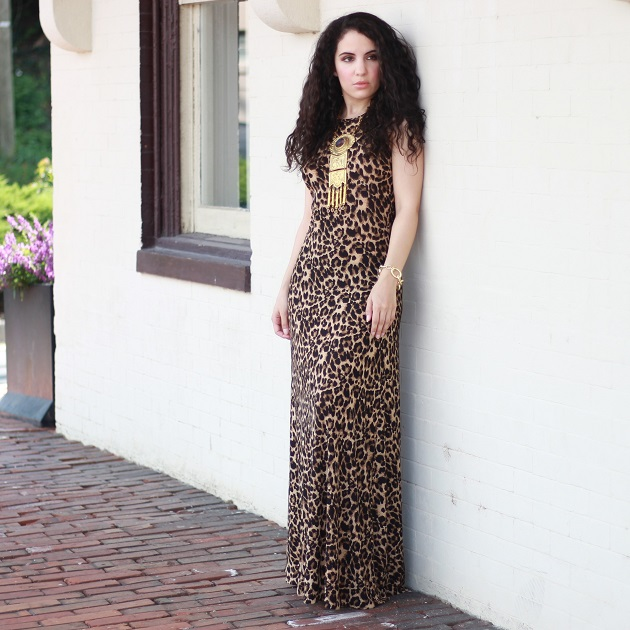 Tobi Leopard Maxi Dress