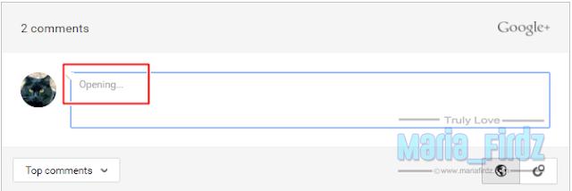 Kotak Komen Google Plus Kurang Mesra Pengomen!