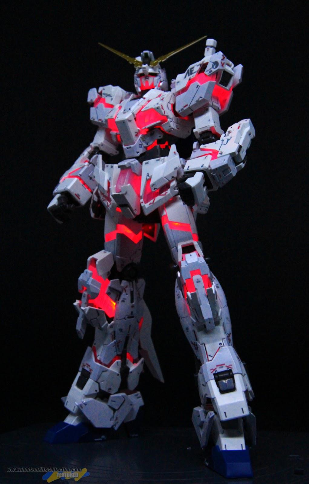 Painted Build: RG 1/144 Unicorn Gundam [Destroy Mode] Lighting Model ver. TWC - Gundam Kits Collection News and Reviews