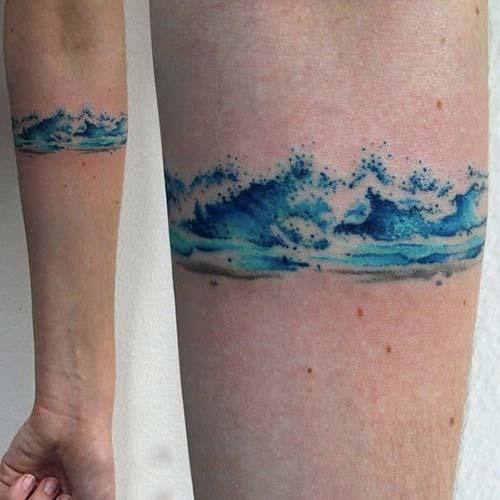 sea wave armband tattoo deniz dalgası kol bandı dövmesi