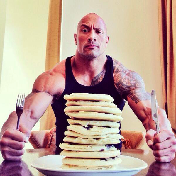 the-rock-pancakes-buildmusclegym