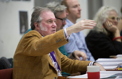 David Pountney. WNO La forza del destino rehearsal in Cardiff. (Photo credit - Betina Skovbro)