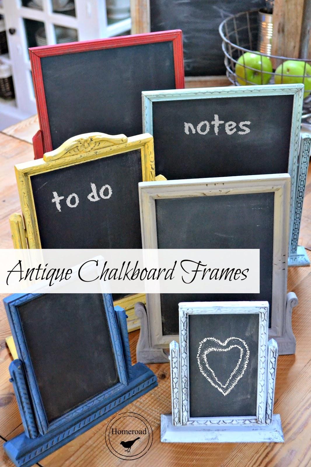Antique Swing Frame Chalkboards www.homeroad.net