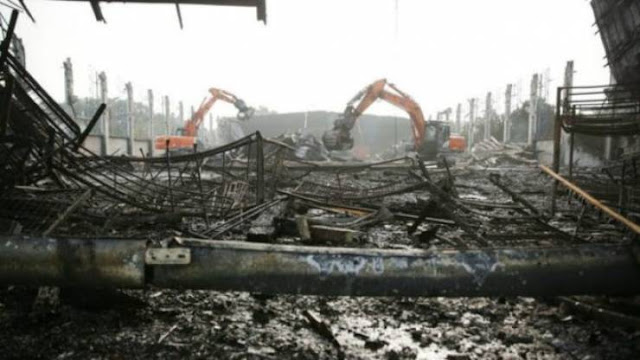 إحراق مخيم لاجئين بألمانيا  بسبب شجار على وجبة الإفطار.. والمفاجأة كانت الفاعل!