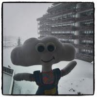 Mr Dream sous la neige à Tignes