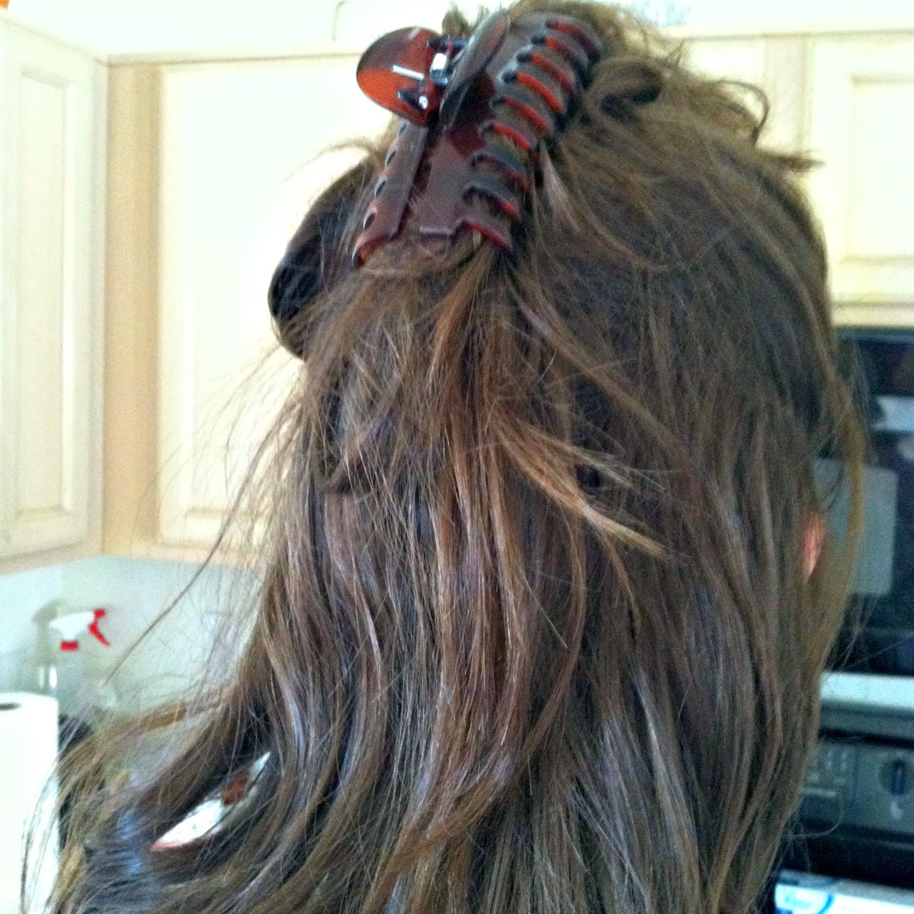 next we pinned up sections of my hair so itd be easier to cover with the henna - Coloration Henn Rouge