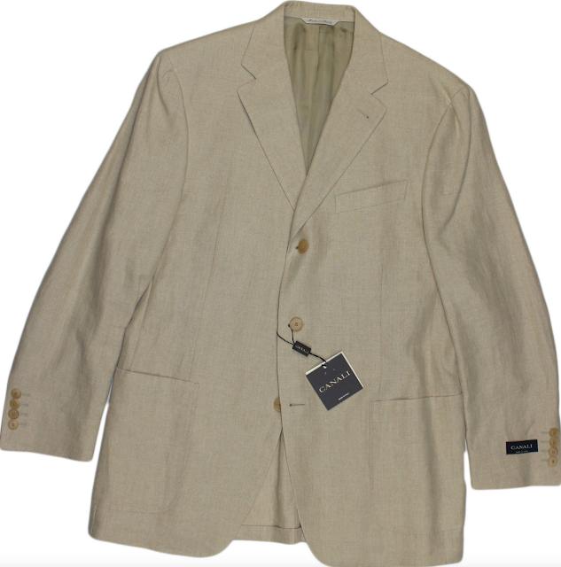 Canali Beige Linen Jacket