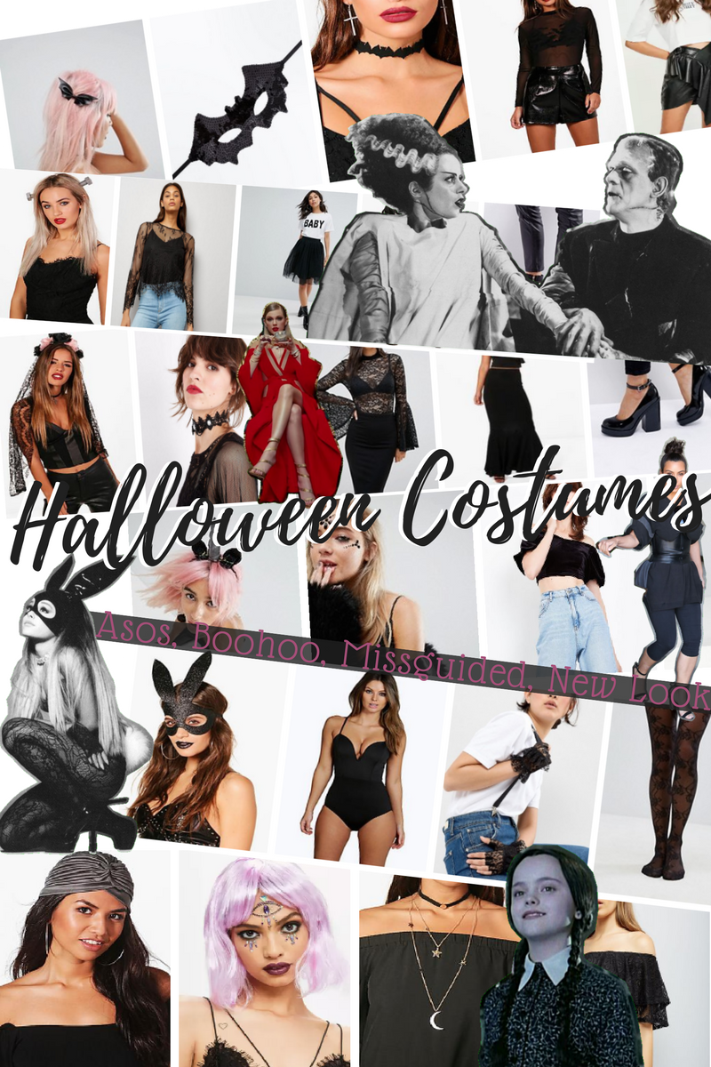 article sélection déguisements halloween asos boohoo missguided new look