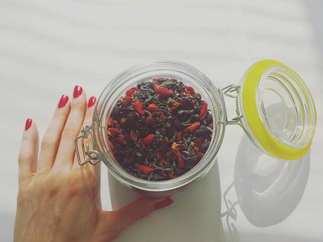 Domowa jesienna herbatka