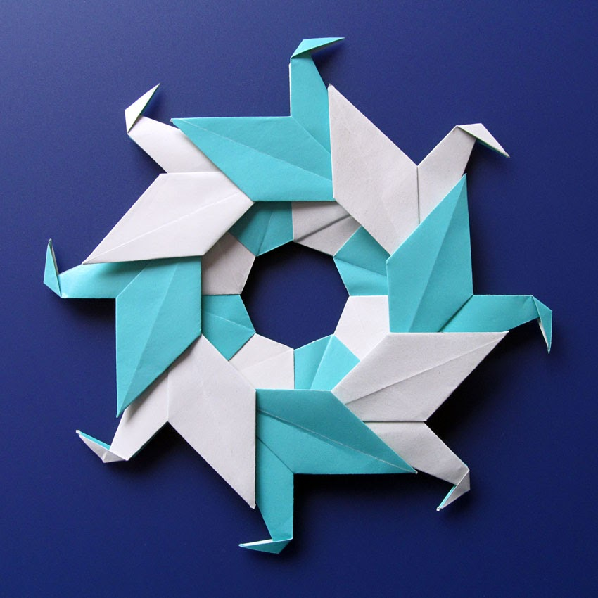 Modular origami, Ghirlanda di anatre - Garland of ducks by Francesco Guarnieri