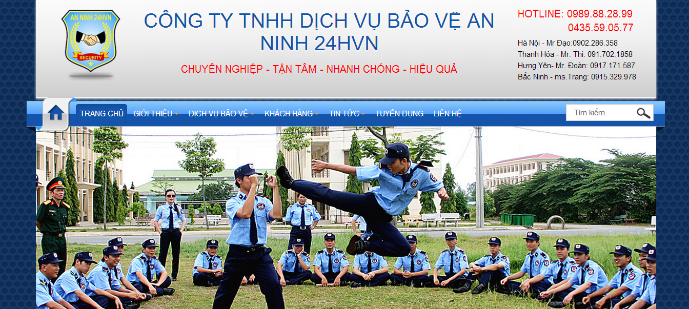 thiết kế website công ty bảo vệ