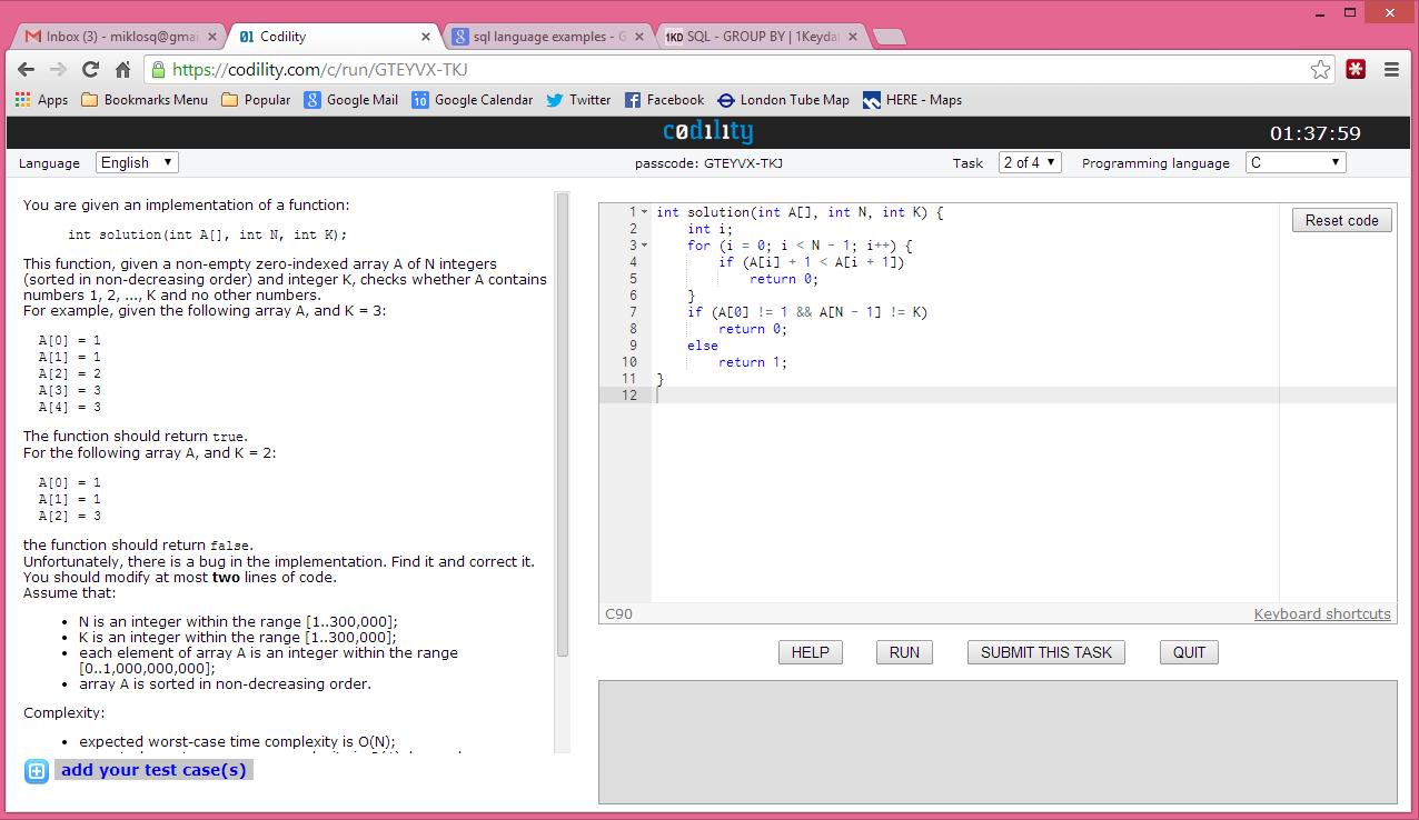 qmi's blog: Codility simple C programming task 2 - solution