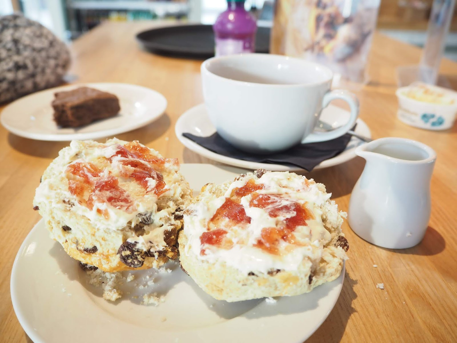 scone jame cream brewhouse coffee pavillion shopping centre thornaby middlesbrough
