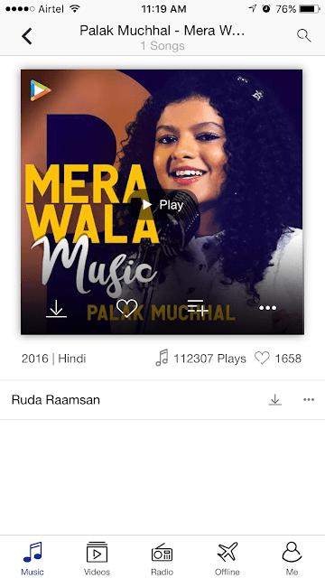 Mera Wala Music - Palak