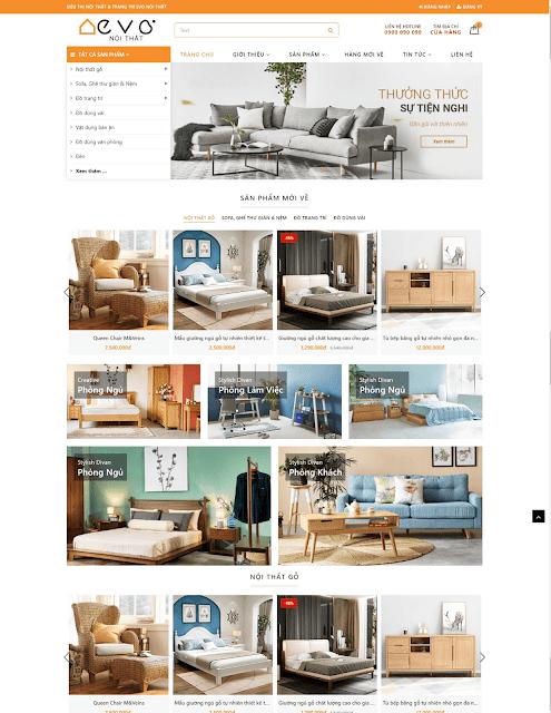 Template blogspot bán hàng nội thất cao cấp