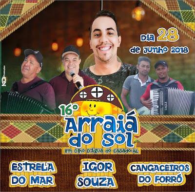 """16º Arraiá da """"Rua do Sol"""" em Olho D'Água do Casado será realizado nesta quinta-feira, 28"""