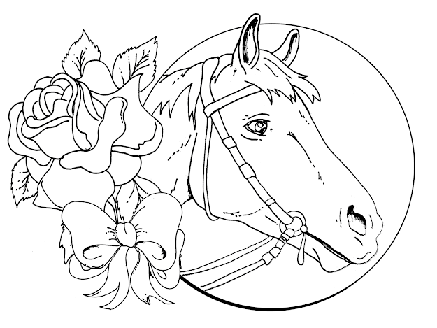 Detailed Christmas Coloring Pages  Download Horse Coloring Pages For Girls