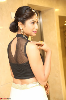 Roshni Prakash in a Sleeveless Crop Top and Long Cream Ethnic Skirt 080.JPG