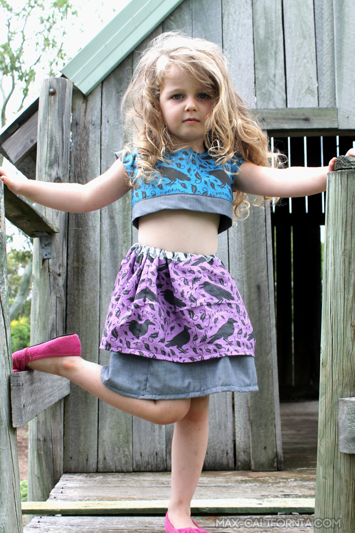 Nevermore Geranium Dress Two Piece Hack! (og pattern by made by rae) • www.max-california.com
