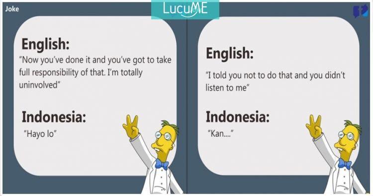 14 Meme 'Terjemahan Inggris - Indonesia' Ini Bikin Asik ...