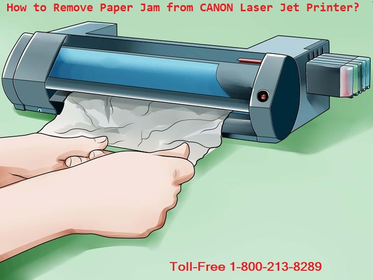 How to remove jammed paper from printer