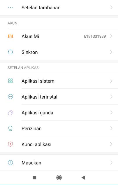 Hilangkan Aplikasi Xiaomi