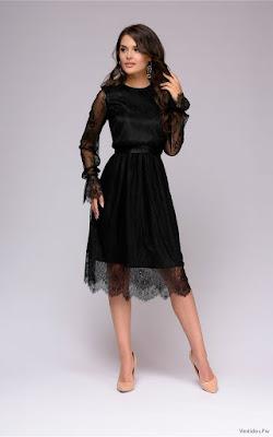 Vestidos de Encaje Negro