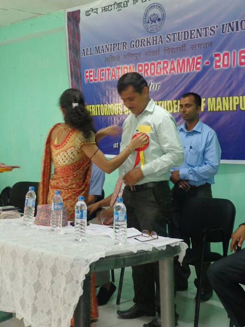 Gorkha Students felicitated in Manipur by AMGSU