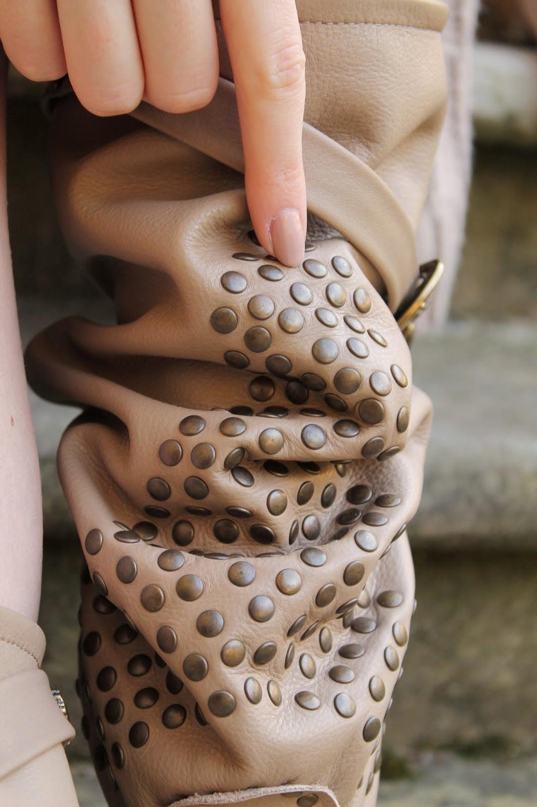 handmade studded boots