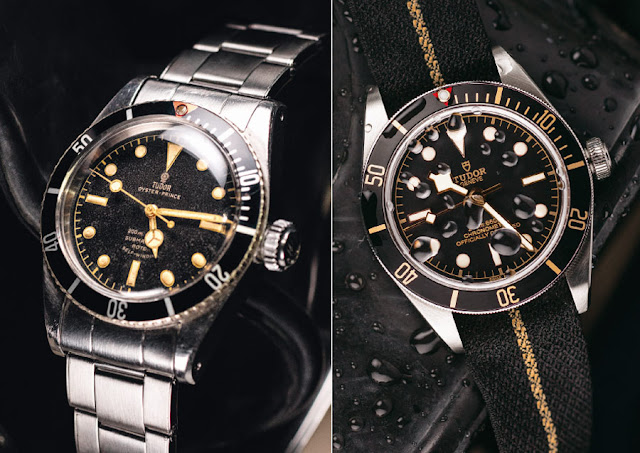Tudor Reference 7924 from 1958 and Tudor Black Bay Fifty-Eight