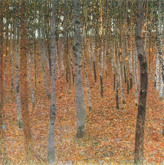Gustav Klimt Beech Forest I I 1902