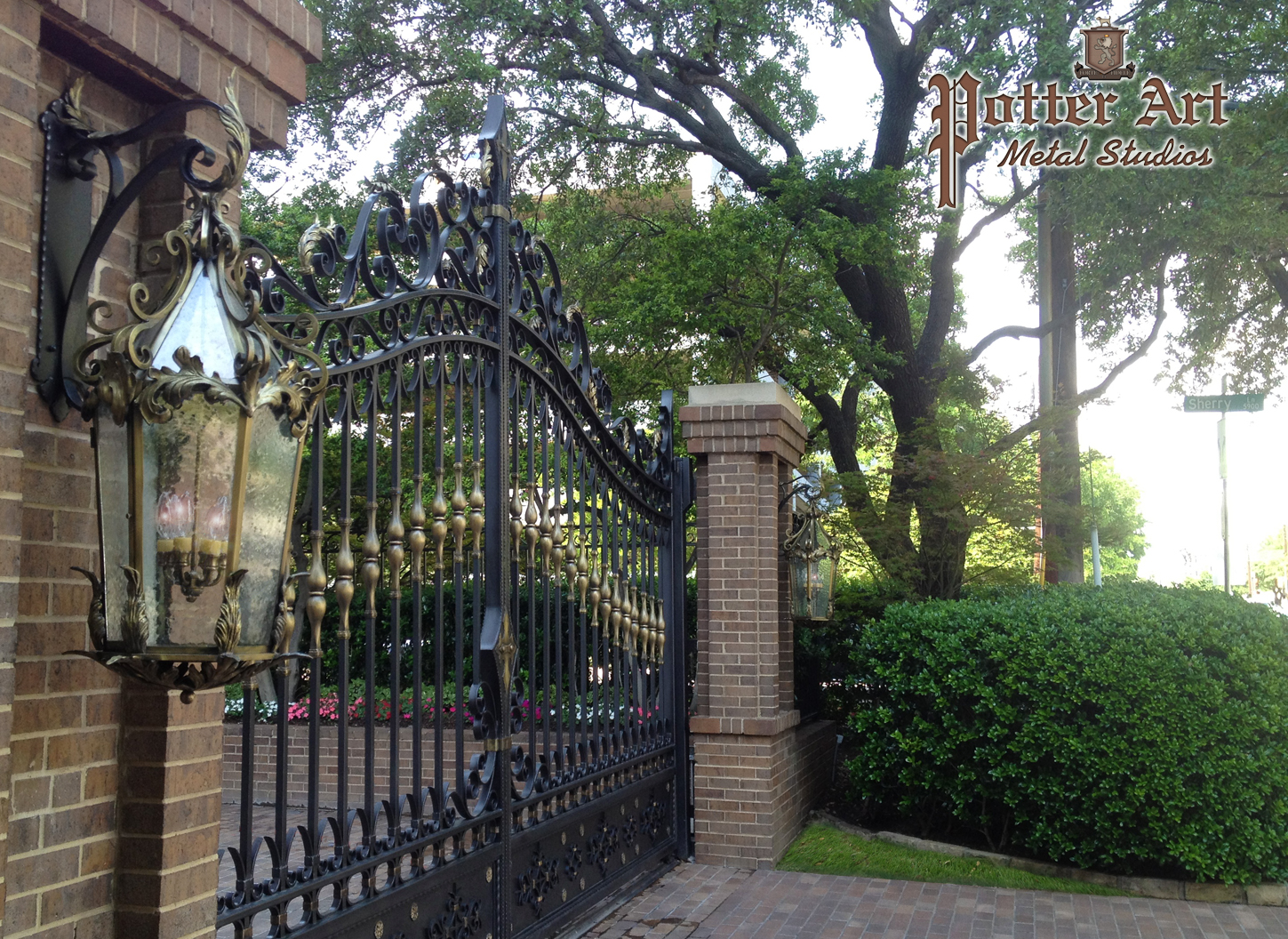 Wrought Iron Gates: Potter Art Metal Studios: Elegant Wrought Iron Gates And