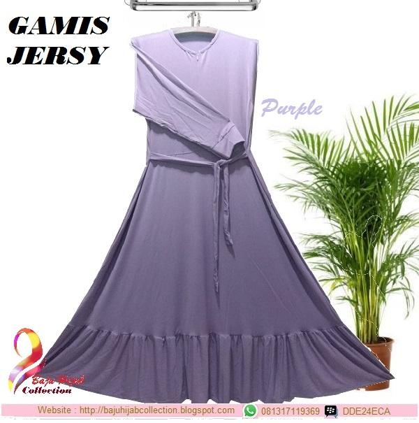 Gamis Jersy Purple