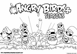 Angry Birds Halloween Coloring Pages To Enlarge The Colouring Page Click On Thumbnail Or Yellow Link At Corner Of