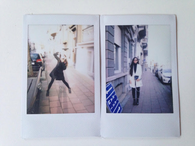 Polaroid photos of KaoriAnne and Christine Xuan