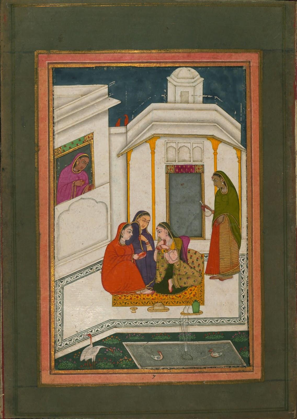 Indian manuscript miniature - music visualisation