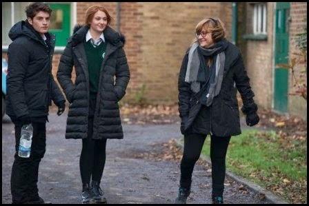 Isabel Coixet, Sophie Turner y Gregg Sulkin en el rodaje de 'Mi otro yo' (Isabel Coixet, 2013)