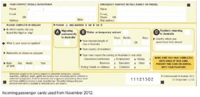 Thủ tục hải quan Úc và cách điền tờ khai nhập cảnh Úc 5