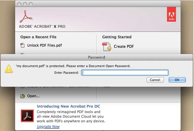 how to give password to pdf file