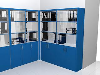 Filing Cabinet System Moveable - Lemari Dokumen Kantor Dengan Roda Bisa Digeser Pintu Kaca
