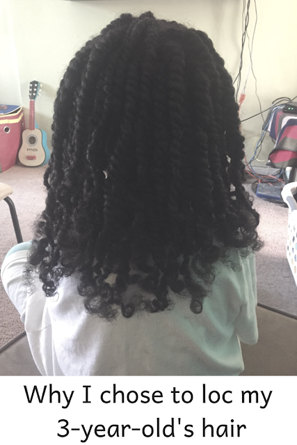 little girl with locs