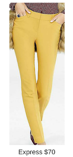 Sydney Fashion Hunter - She Wears The Pants - Express Yellow Women's Work Pants