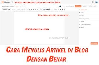 Cara Menulis Artikel di Blogspot dengan Benar dan Baik