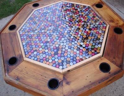 Mesa con corcholata y resina cristal
