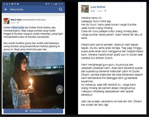 """Gak Kapok! Ahoker Nurul Si """"Pelaku Aksi Lilin Sendirian di Padang"""" Provokasi Lagi Warga Sumbar - INSIDE ONTA"""