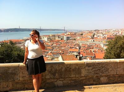 Utsikt over Lisboa fra Castelo de São Jorge
